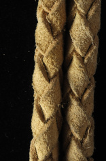 Brown Textured Braided Leather Necklace