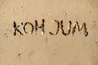 Koh Jum written with rocks