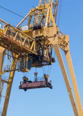 huge container crane