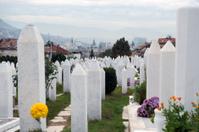 War cememtery in Sarajevo