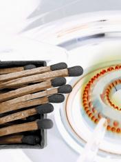 Gas Burner, Matchsticks, Concept