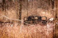 Abandoned Antique Pickup Truck in Winter