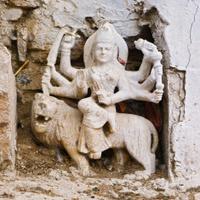 Little statue of hindu god in Pushkar, India