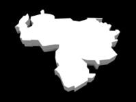 illustration of the venezuela map
