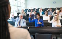 Instructor teaching ASL class