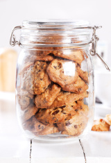 handmade cookies in widemouthed glass jar