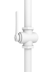 Plumbing valve on pipe white background