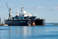 Science ship in Baltiysk shipyard