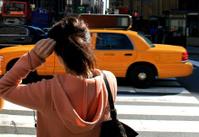 Crossing 8th Avenue in New York