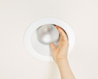 Replacing Burned Out Flood Light in Ceiling Mount