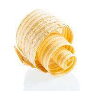 spiral wooden shaving