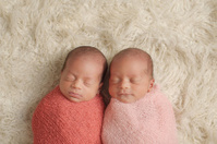 Sleeping Newborn Twin Girls