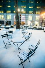 Bryant Park after snowstorm