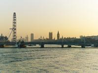 London city skyline at dusk or dawn