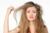 bad hair day woman expressing negativity