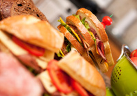 Sandwich, Deli Counter, Cheese, Meats