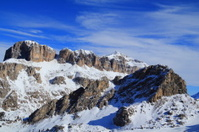 Winter Mountain Peaks in the Dolomites