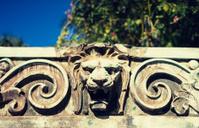 lion head architectural detail