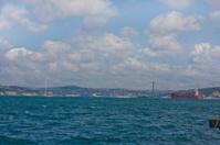 Bosphorus bridge over the strait
