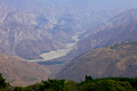 Colombia - The Chicamocha canyon in Santander