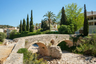 Old roman bridge at Pollenca, Mallorca, Spain