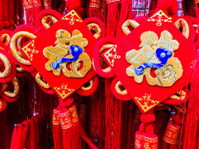 Singapore, Chinatown, festive Lunar New Year decor.