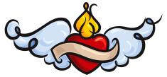 Winged Sacred Heart