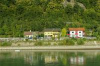 small village near durstein at austria by danube river