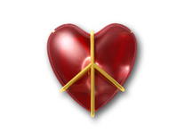 """I love peace"" illustration"