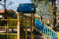 Colored wooden slide