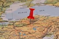 Ankara Marked With Red Pushpin on Turkey Map