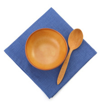 plate and spoon on white