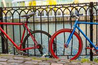 Bikes at river bank