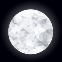 Abstract polygonal moon