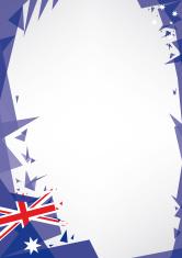background origami of Australia
