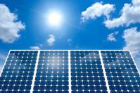 Solar panel and the sun