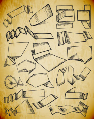 Grunge banner drawings