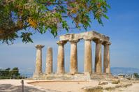 Apollo Temple in Corinth, Greece