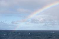 Rainbow over Atlantic Ocean