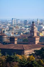 Milano Castello Sforzesco  Panorama