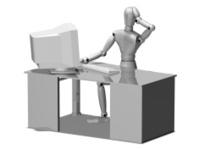 Metal Manikin/Mannequin or Robot having computer trouble