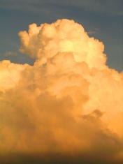 Cumulus clouds at Sunset in Texas