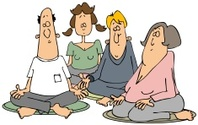 Group of meditators