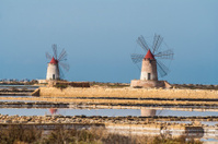 Salt flats Mill in Sicily