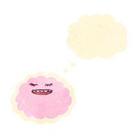 retro cartoon pink cloud