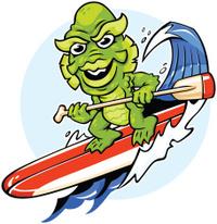 surfing monster