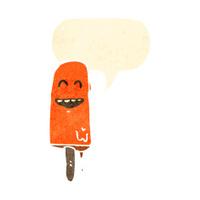 cartoon melting ice lolly