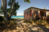 derelict corfu beach house