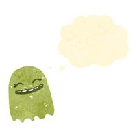 retro cartoon funny ghost