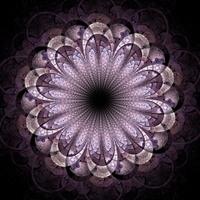 Dark pink fractal flower, digital artwork